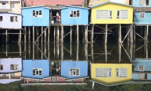 Zdjecie CHILE / Wyspa Chiloe / Castro / Odbicie