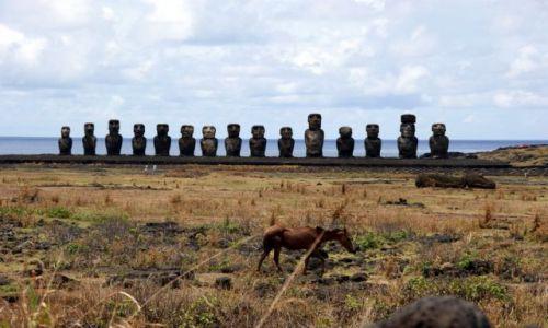 Zdjecie CHILE / Rapa Nui / Tongariki / Tongariki.... i kon..