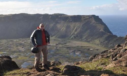 Zdjęcie CHILE / Pacyfik / Rapa Nui / Orongo / Rano Kau