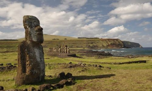 Zdjecie CHILE / Pacyfik / Rapa Nui / Ahu Tongariki