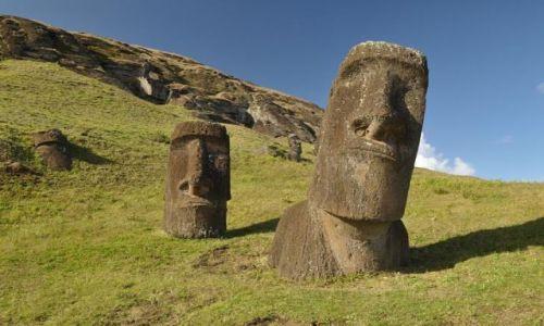 Zdjecie CHILE / Pacyfik / Rapa Nui / Rano Raraku