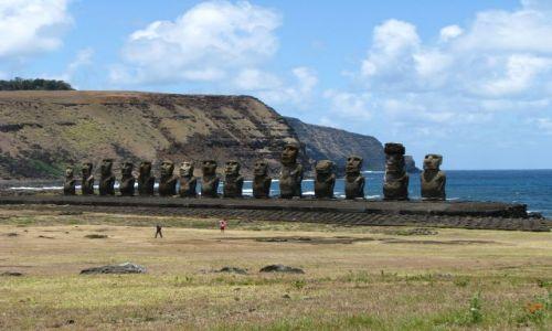 Zdjecie CHILE / Pacyfik / Wyspa Wielkanocna / Ahu Tongariki