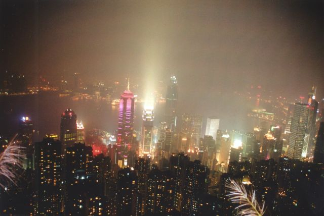 Zdjęcia: Victoria Peak - widok na Kowloon, Hong Kong , Panorama Hong Kongu, CHINY