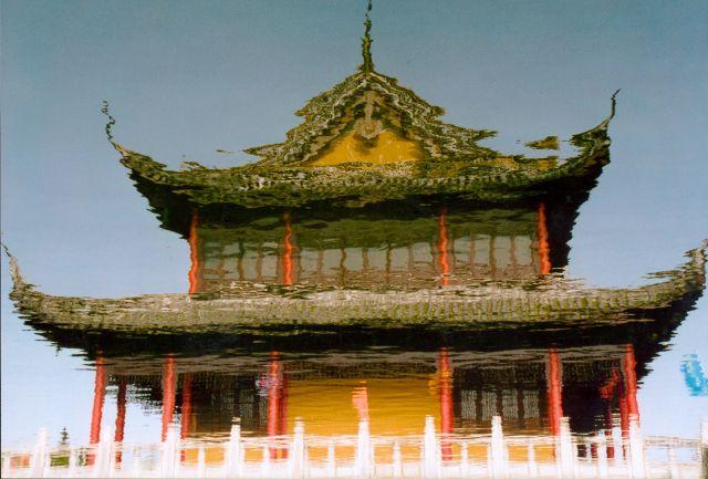 Zdjęcia: Zhouzhuang - chińska Wenecja, Okolice Szanghaju, Odbicie, CHINY