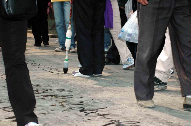 Zdjęcia: pekin, kaligrafia chodnikowa_1, CHINY