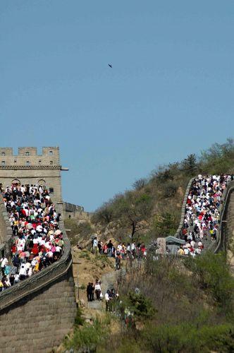 Zdjęcia: Badailjng, oblężenie Muru, CHINY