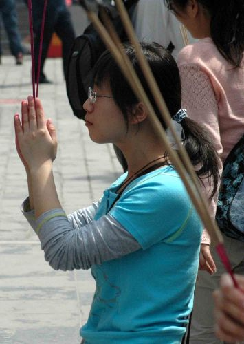Zdj�cia: pekin, w �wi�tyni Lamaizmu, CHINY