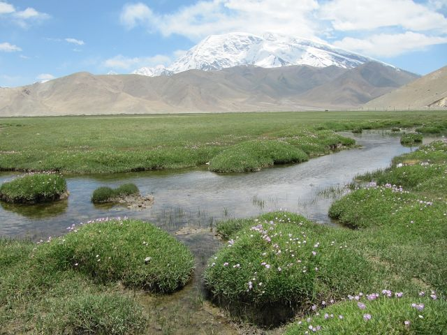 Zdjęcia:  Muztagh Ata, Karakorum Highway, Droga pod Muztagh Ata , CHINY