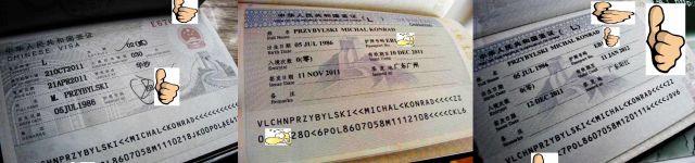 Zdjęcia: ChRL, Wiza chińska i przedłużenia, CHINY