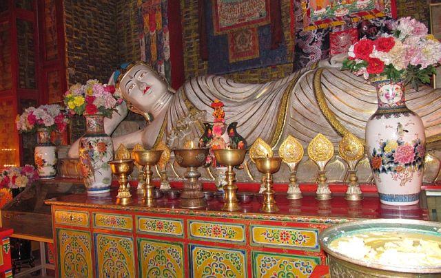 Zdjęcia: klasztor Labrang, Xiahe, Wielki Budda, CHINY