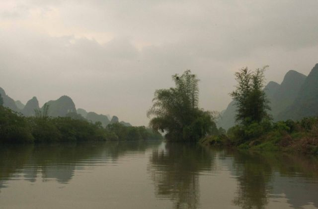 Zdjęcia: Yangshuo, Guangxi , z tratwy , CHINY
