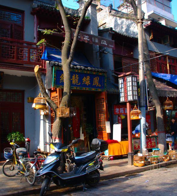 Zdjęcia: Xian, Xian, sprzedawca ptaków, CHINY