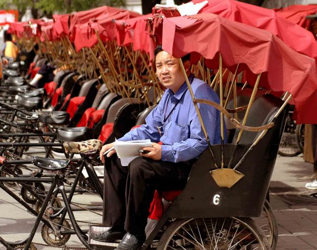 Zdjęcia: pekin, chiny -portrety; ryksza-boss, CHINY