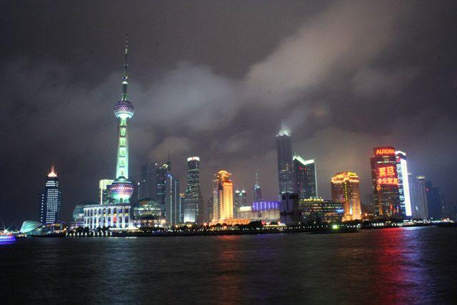 Zdjęcia: Szanghaj, Pudong nocą, CHINY