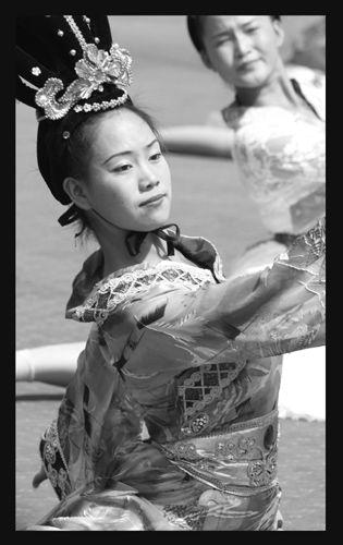 Zdj�cia: Xian, taniec, CHINY