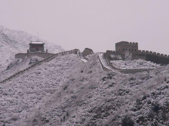 Zdjęcia: okolice Pekinu, Wielki Mur Chiński - zimą, CHINY