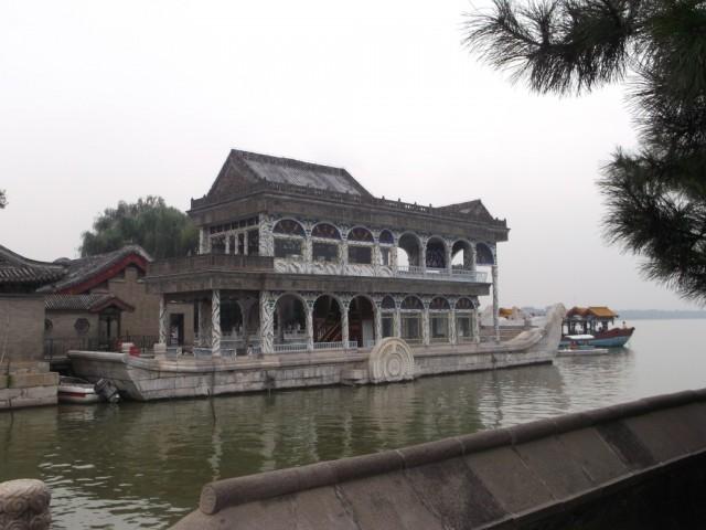 Zdjęcia: Pałac Letni, Pekin, Pałac Letni - marmurowa łódź, CHINY