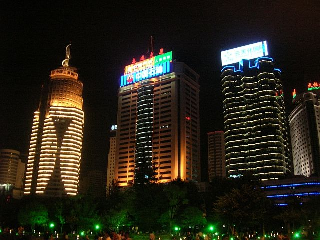 Zdjęcia: Kunming, Yunan, Kunming nocą, CHINY