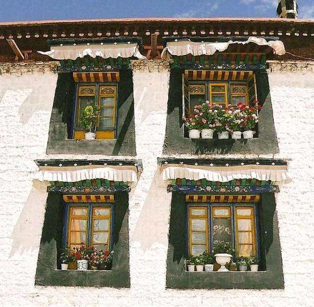 Zdjęcia: Lhasa, Tybetański Region Autonomiczny, Okno, TYBET