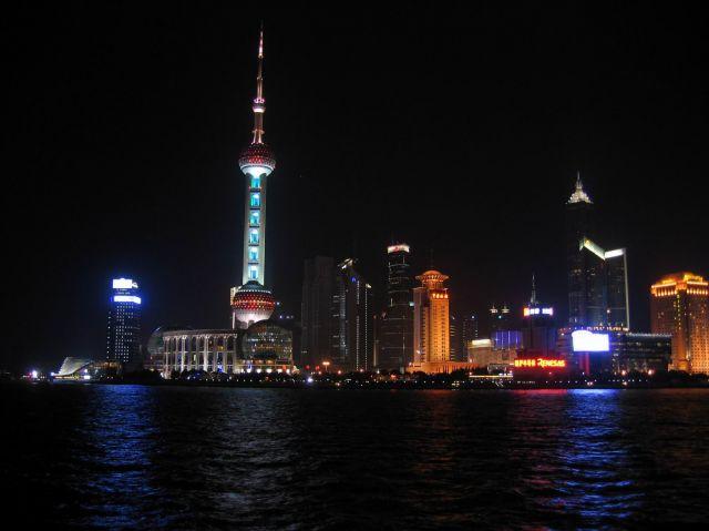 Zdjęcia: Chiny, Shanghai, Shanghai nocą..., CHINY