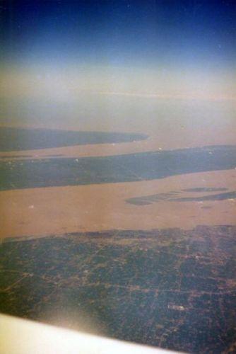 Zdjęcia: Z samolotu nad Chinami, Żółta rzeka, CHINY