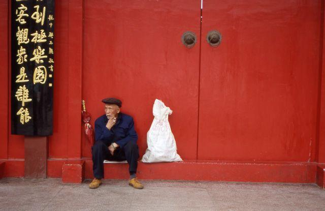 Zdjęcia: Kunming, Yunan, Przed bramą Świątyni, CHINY