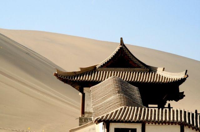 Zdjęcia: gdzieś przy granicy Gansu z Xinjiang, Pustynia Gobi od storny Dunhuang, CHINY