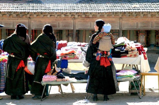 Zdjęcia: Xiahe- Prowincja Gansu, Tybetanki, CHINY