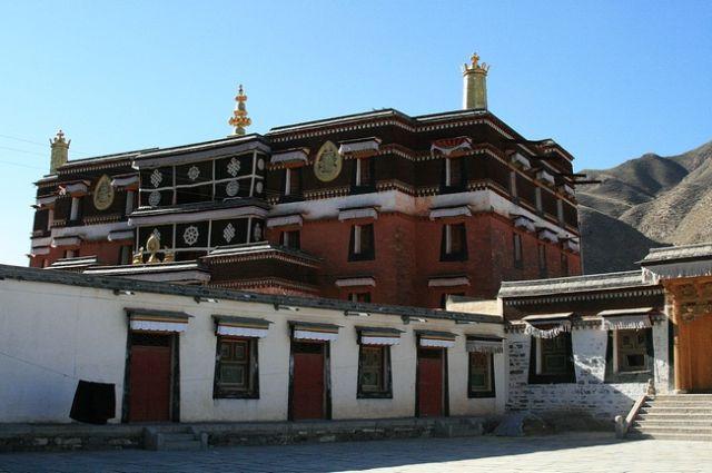 Zdjęcia: Xiahe- Prowincja Gansu, Jedna ze światyń klasztoru Labrang, CHINY