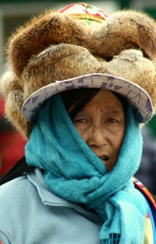 Zdj�cia: Jiuzhaigou, kobieta Tybetu, CHINY