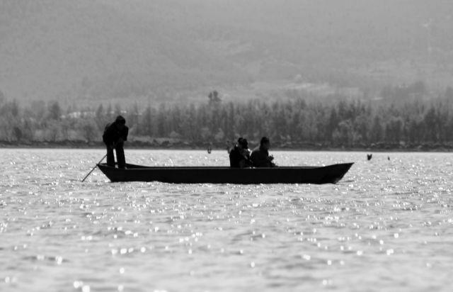 Zdjęcia: Yunnan, na jeziorze w Lijiang, CHINY