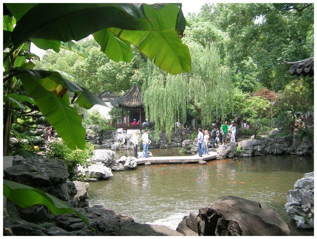 Zdjęcia: Ogrod Yuyuan, Shanghai, Widok spod bananowca, CHINY