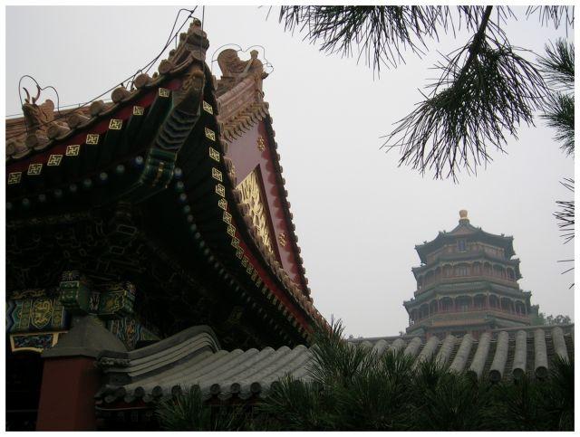 Zdj�cia: Pekin - Pa�ac Letni, ChinyP�nocne, Chi�skie dachy, CHINY