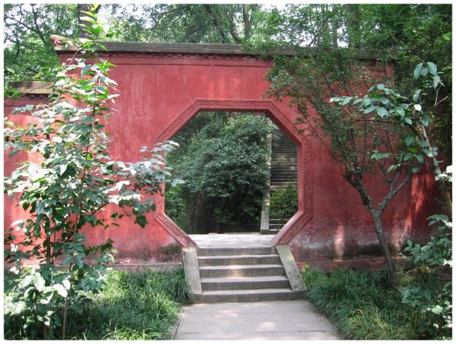 Zdjęcia: Leshan, Prow.Sichuan, Czerwony mur, CHINY