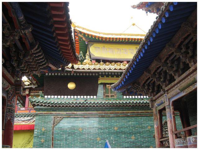 Zdjęcia: prow. Qinghai, Chiny C, Klasztor Kumbum - detale, CHINY