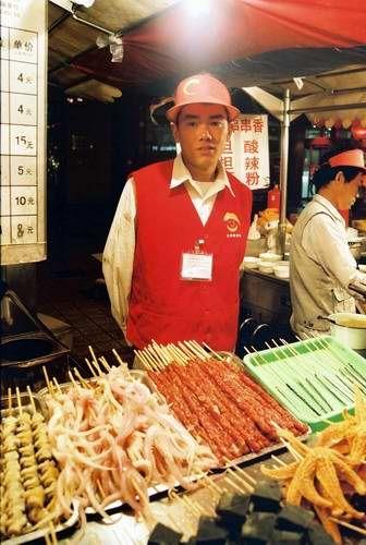 Zdjęcia: Pekin, nocny targ rzecz smacznych i mniej smacznych, CHINY