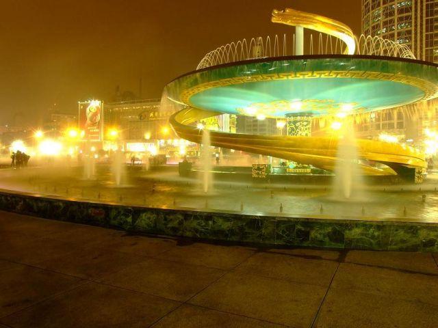 Zdjęcia: Chengdu, Fontanna w Chengdu, CHINY