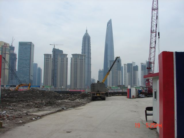 Zdjęcia: Pudong, Szanghaj , Zdjecie z budowy, CHINY
