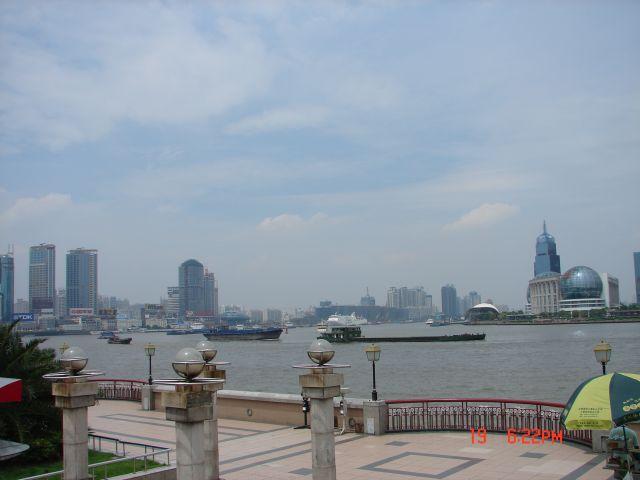 Zdjęcia: Pudong, Szanghaj , Bulwar i widok z ..., CHINY