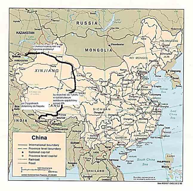 Zdjęcia: Mapa podróży przez Chiny, CHINY