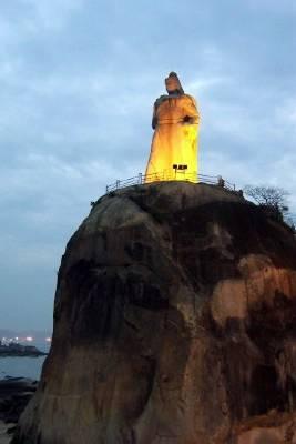 Zdjęcia: Wyspa Gulangyu, Xiamen, Prowincja Fujian, Posąg Zheng Chenggong'a, CHINY