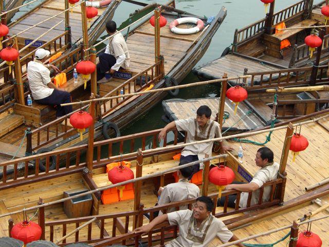 Zdjęcia: Shanghai, Łodzie w Quingpu - zachodniej dzielnicy Shanghaju, CHINY