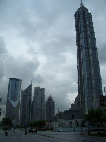Zdjęcia: Shanghai, wieżowiec Jin Maow dzielnicy Pudong (421m), CHINY