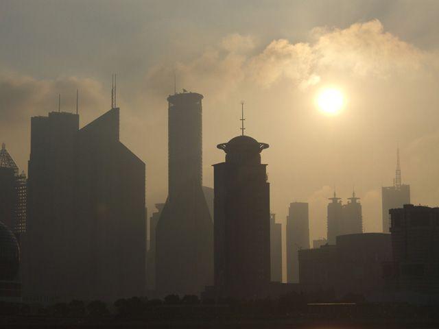 Zdjęcia: Shanghai, Widok na Pudong o świcie, CHINY