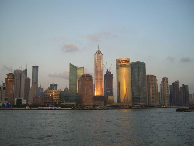 Zdjęcia: Shanghai, Pudong o zachodzie słońca, CHINY
