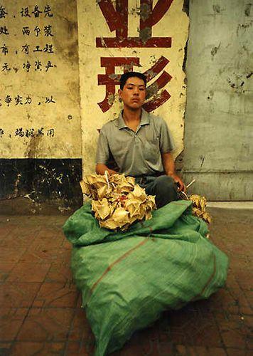 Zdjęcia: Shanghai, Sprzedawca świerszczy, CHINY