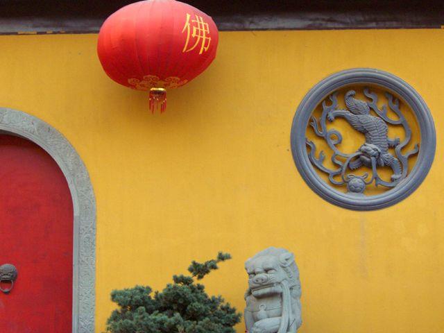 Zdjęcia: Shanghai, mur świątyni Jadeitowego Buddy, CHINY