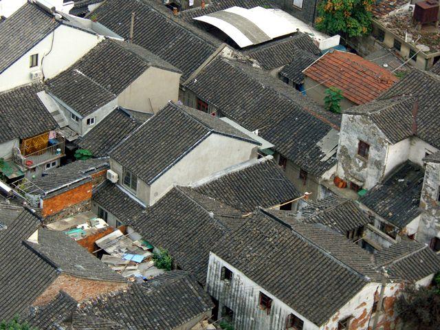 Zdjęcia: Suzhou, widok na stare miasto z Pagody Świątyni Nefrytowego Buddy, CHINY