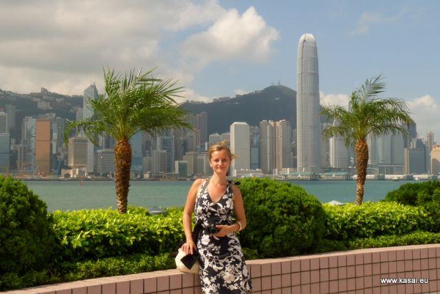 Zdjęcia: Hongkong, Chiny Hongkong widok na las wieżowców z Kowloon, CHINY