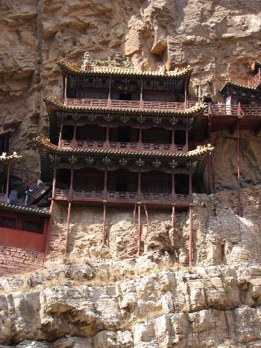 Zdj�cia: Datong, Shanxi, Wisz�cy Klasztor, CHINY
